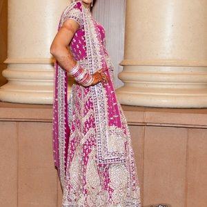 Indian/Punjabi Pink Lehenga choli